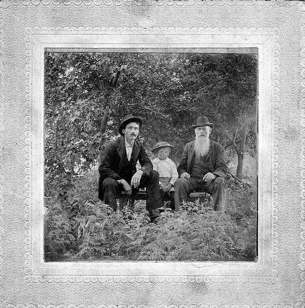 Grandpa (Edward) with Mr. Lovald and boy.jpg