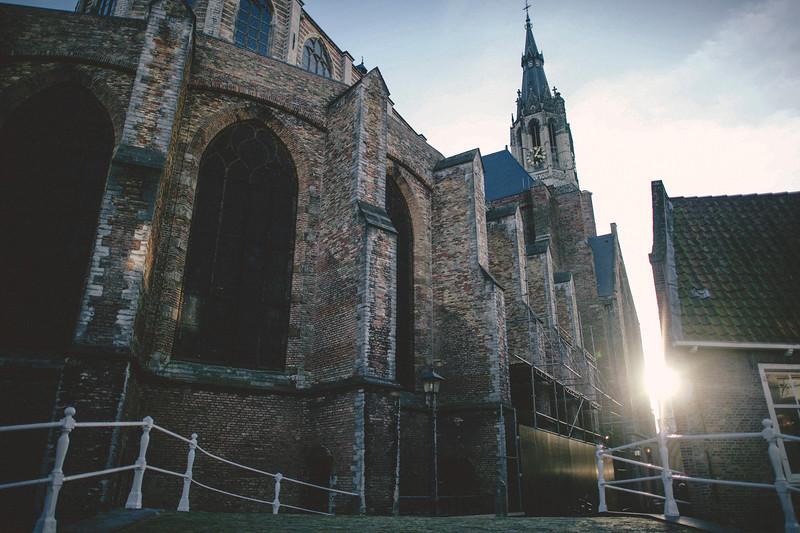 Beautiful Time in Delft Square