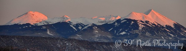 Alpenglow on the La Sals