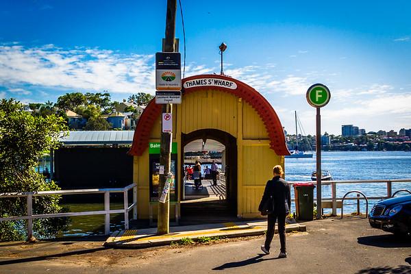 Balmain : Thames Street Ferry Wharf