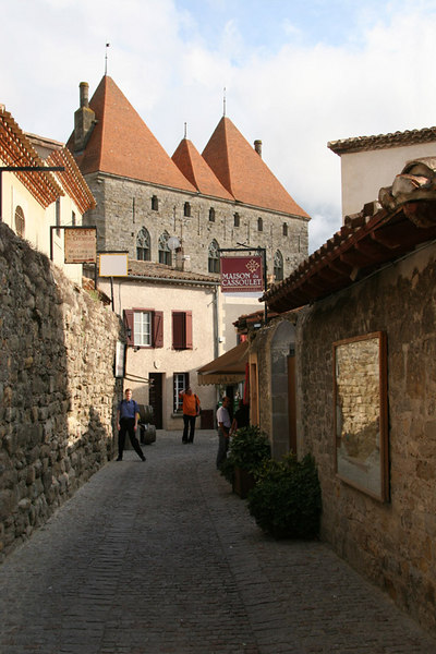 Inside the old city of Carcassone