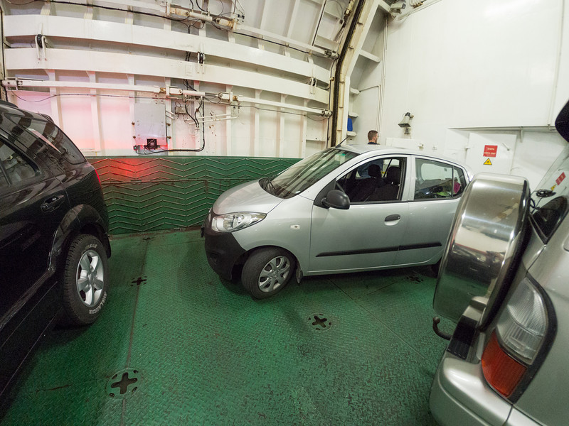 We were the last car on the ferry and the workers had to park our car for us to fit it in.