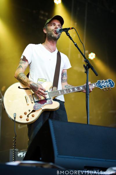 Ben Nichols of Lucero performs at The Citrus Bowl in Orlando, Florida during Orlando Calling on November 12, 2011
