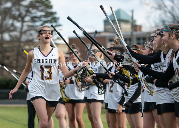 Broughton girls varsity lacrosse vs Middle Creek. February 28, 2020. MRC_5432
