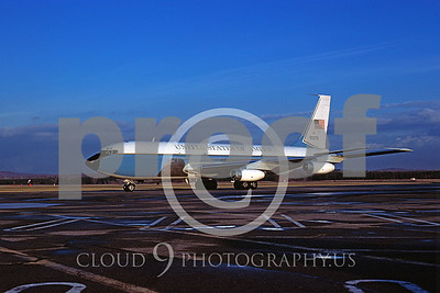 U.S. Air Force C-135 Stratotanker Airplanes in Bicentennial Color Scheme