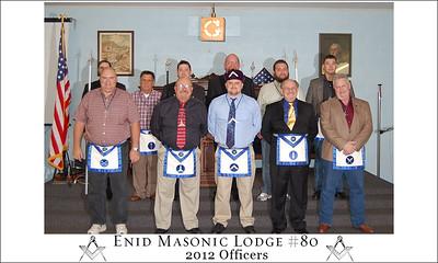 Enid Lodge # 80 2012 Lodge Officers