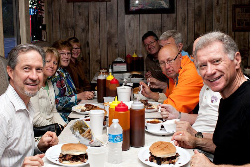 Morgan Community Group at Porky's Blazin BBQ!! Oh yea!