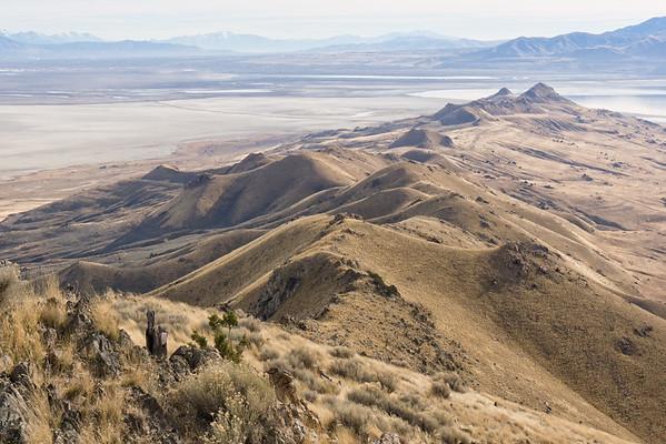 2014-11-28 Frary Peak on Antelope Island