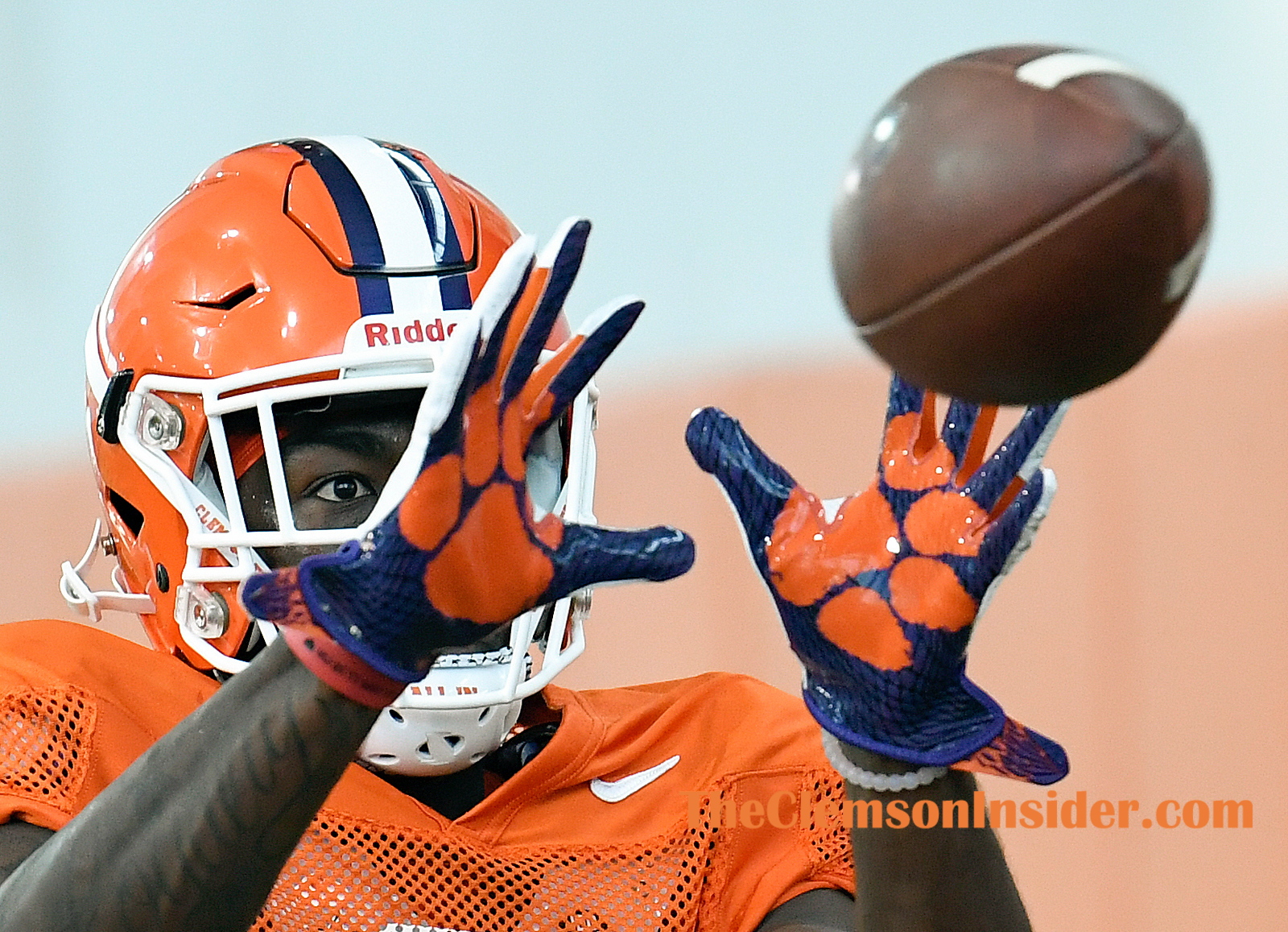 Clemson wide receiver Justyn Ross (8) during the Tiger's practice Tuesday, August 20, 2019. Bart Boatwright/The Clemson Insider