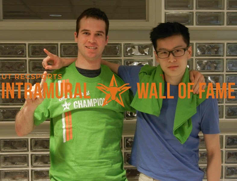 SPRING RACQUETBALL Men's C Doubles Champion Thomas Vonkuster and Xiaomeng Shi