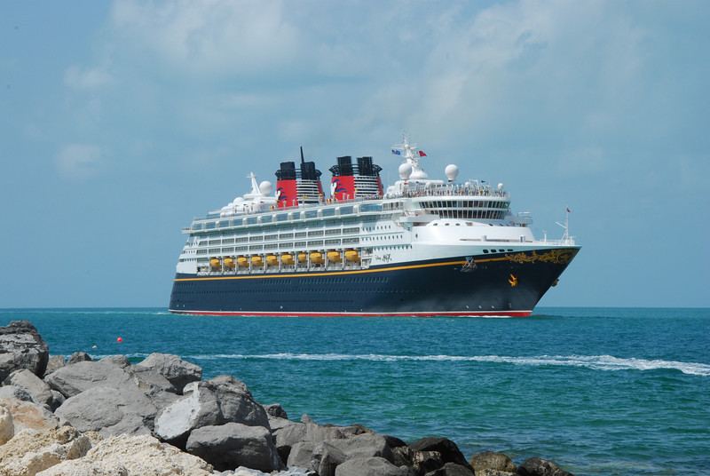 The cruise ship Disney Magic makes a regular stop each week in Key West on its Caribbean cruise.