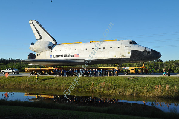 Space Shuttle Atlantis Roll-Over