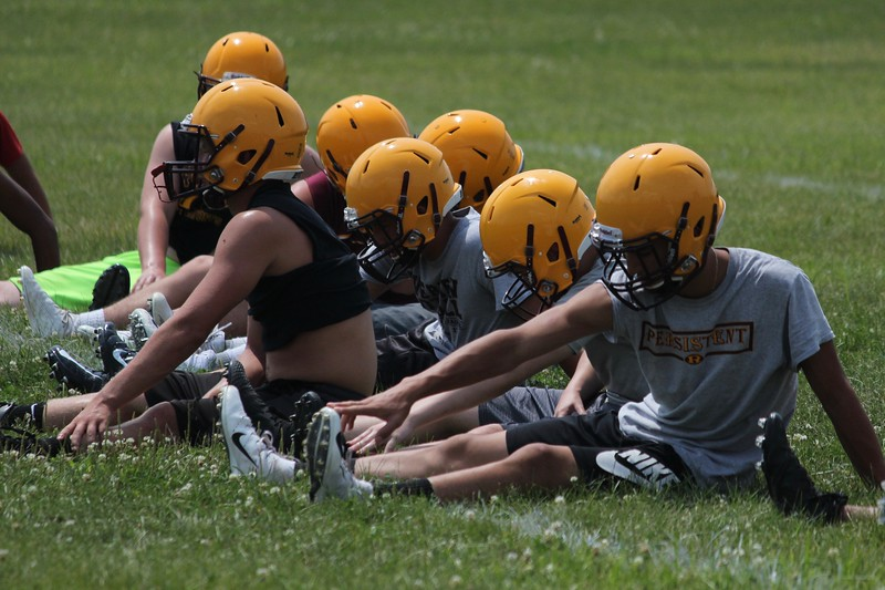 After a run to the state semifinals in 2017, Riverview got back to work on Monday on what was the first day of high school football practice in Michigan. Ricky Lindsay - Digital First Media