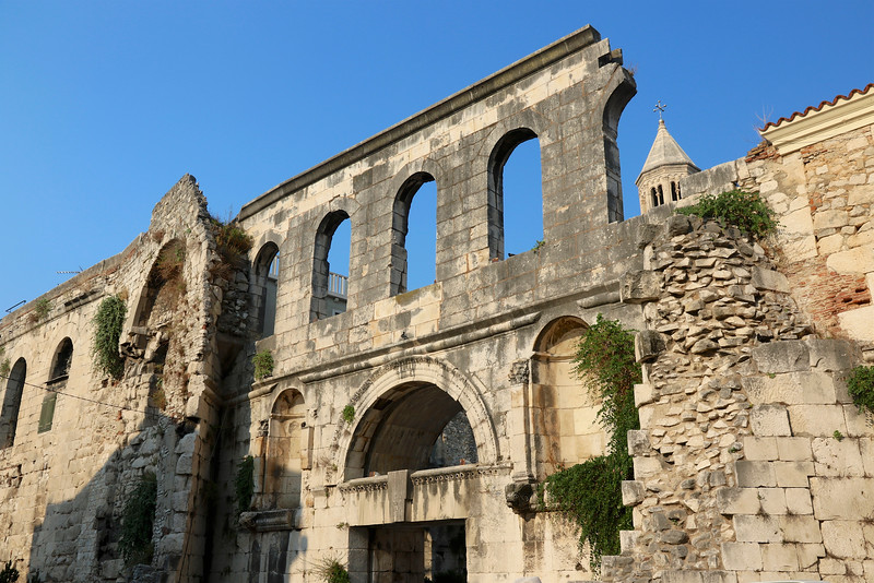 Diocletian's Palace is one of the most imposing Roman ruins in the world, dating from the 3rd century - Silver Gate