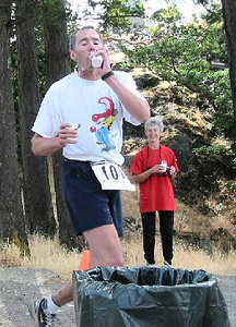 2003 Gutbuster Mount Doug - John Catterall hydrates after the first climb