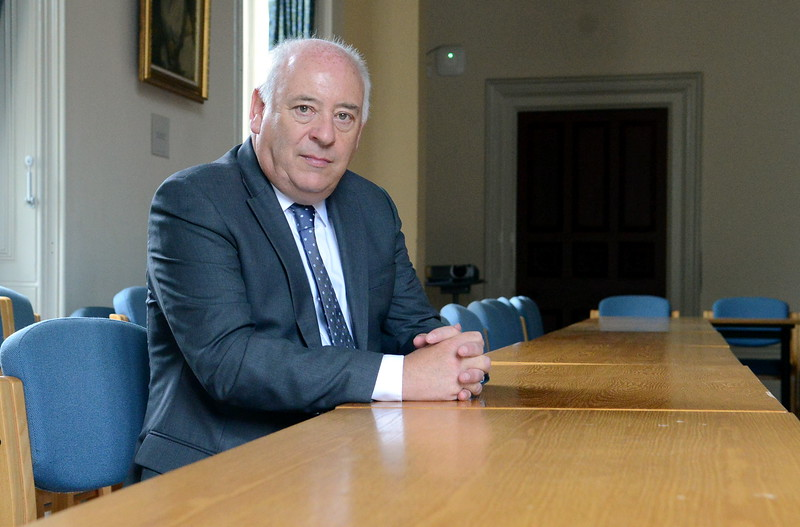 Portrait of Professor Ian Cluckie, for the South Wales Evening Post.
