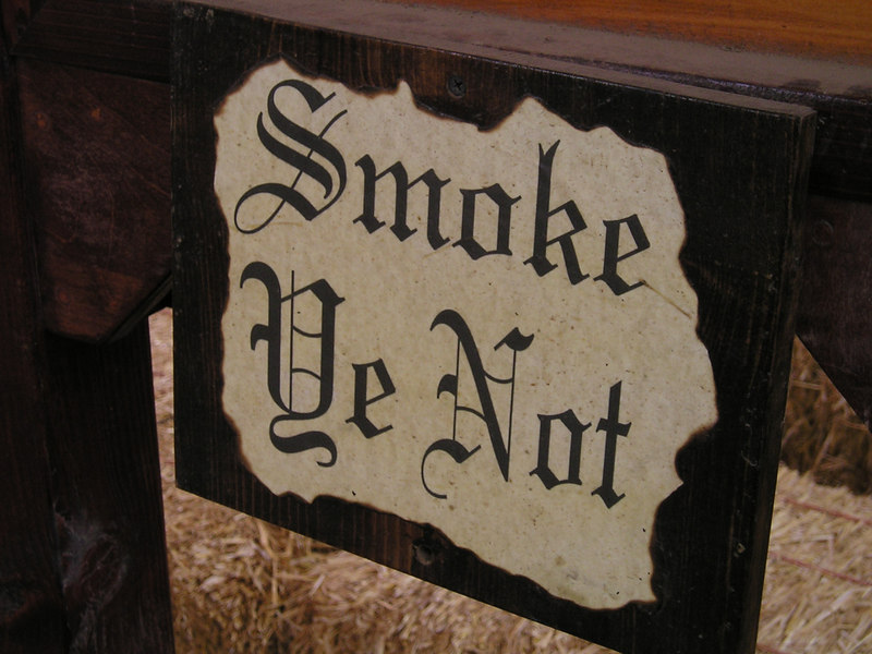 Renaissance Pleasure Faire, Hollister 2006: Didn't stop everyone from not smoking.