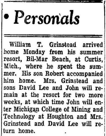 """Grinstead's In The """"I"""" 1950s"""