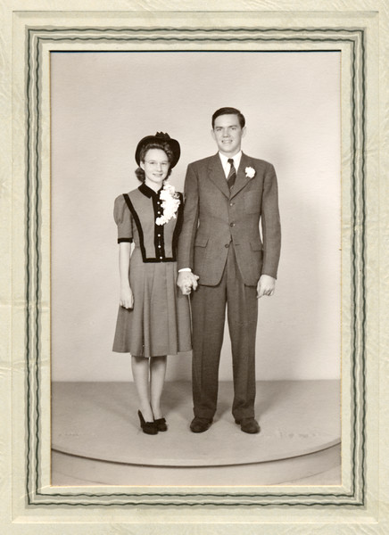 August 21, 1941.  Frankie & Ruben wedding