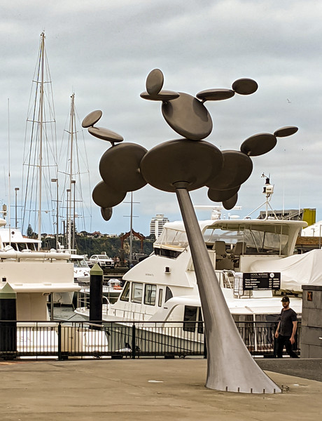 Cytoplasm, a kinetic art project from Phil Price. There are several pieces of public art along this waterfront.