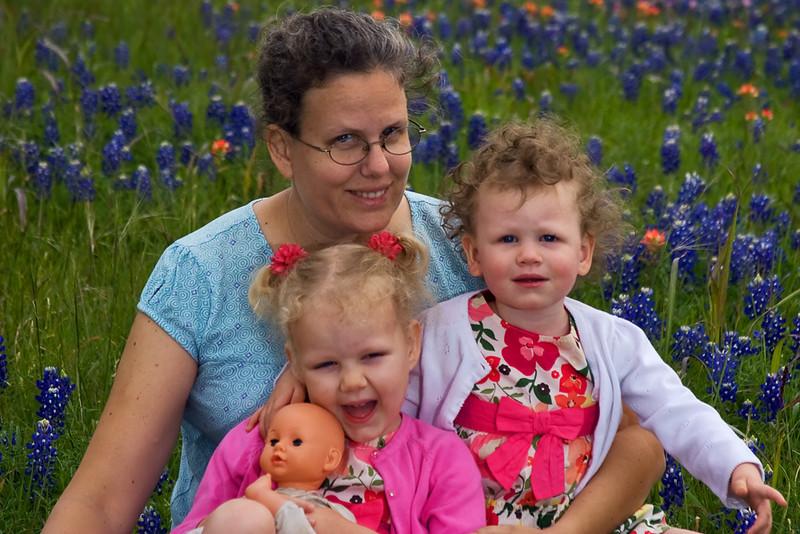 Karen and the Girls in Bluebonnets.jpg