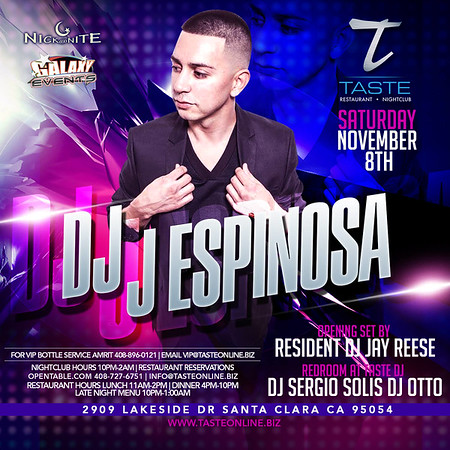 "<FONT SIZE=""1"">With J Espinosa @ Taste Restaurant • Nightclub 11.08.14"