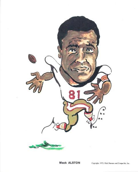 1972 Compu-Set Redskins Mack Alston