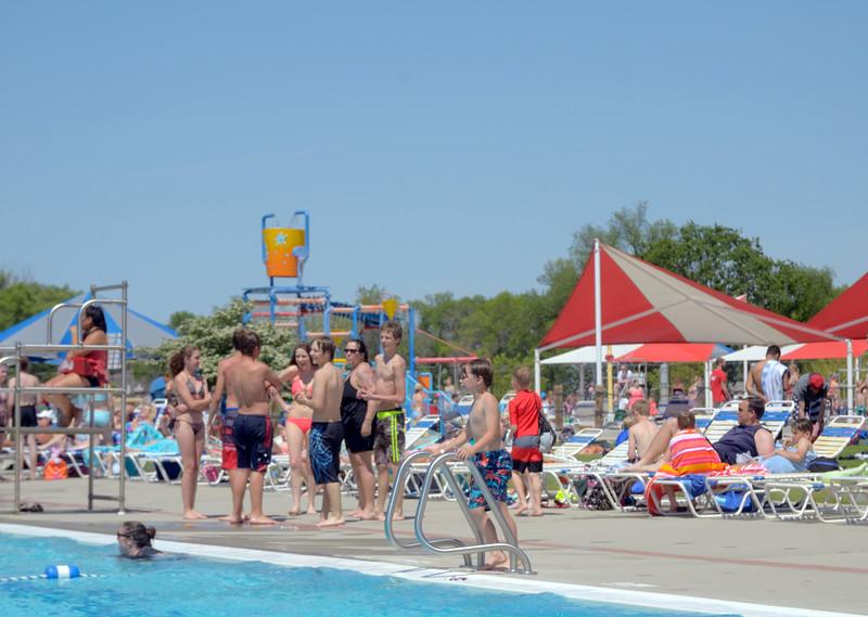 kids at pool