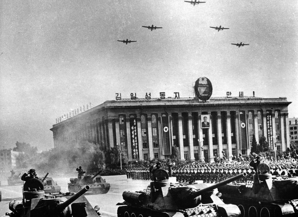 . In this 1967 photo from North Korea\'s official Korean Central News Agency, distributed by Korea News Service, military parade celebrates the 19th anniversary of the creation of the (North) Korean People\'s Army performed at the Kim Il Sung Square in Pyongyang, North Korea. (Korean Central News Agency/Korea News Service via AP Images)
