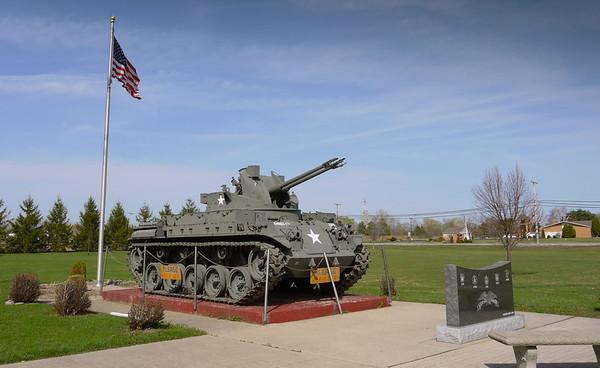 Ohio VFW, American Legion, Veterans Parks, Monument Vehicles