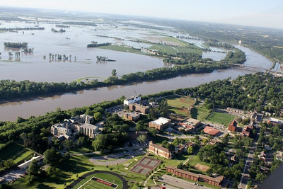 Atchison in July 2011~Flood waters