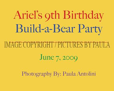 ARIEL'S 9th BIRTHDAY ~ Build-a-Bear ~ June 7, 2009