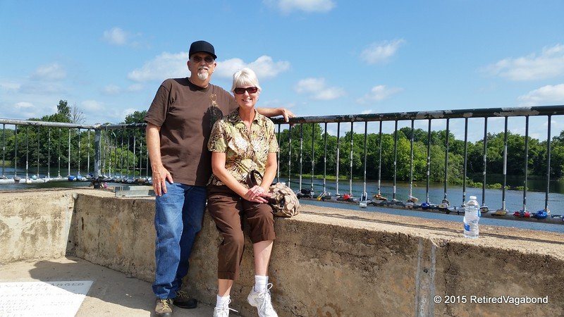 Cheryl and I at August Locks - Savanah River