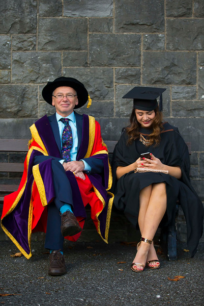 02/11/2016. Waterford Institute of Technology (WIT) Conferring Ceremonies November 2016. Pictured is Laura Allen Wicklow, who Graduated B.A. (Hons) in applied Social Studies in Social Care, also pictured is Prof Willie Donnelly, President of WIT. Picture: Patrick Browne