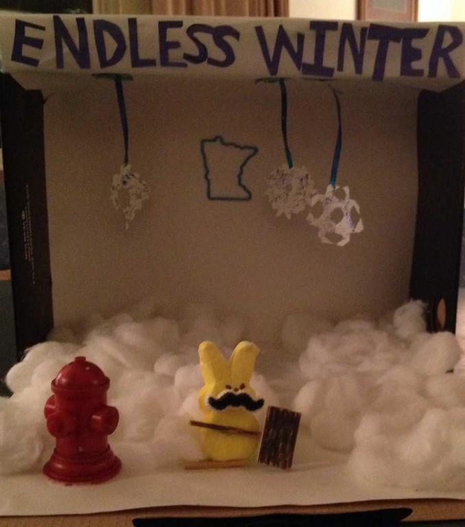 ". \""Endless Winter 2014,\"" by Angela Lahti"