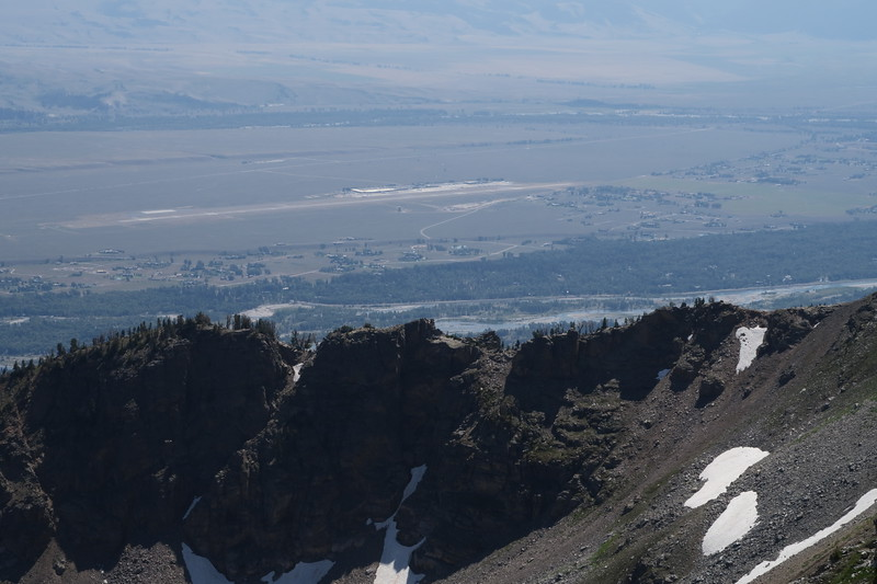 Jackson Hole Airport as seen from Static Peak Divide