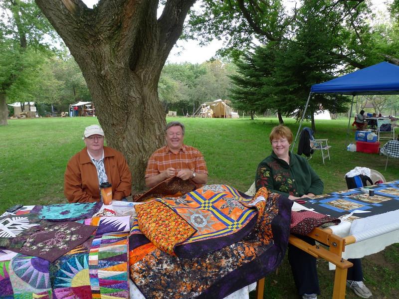 Dan Burke, John Putnam and Jackie Beard at 2008 09 Woldumar Nature Days 25