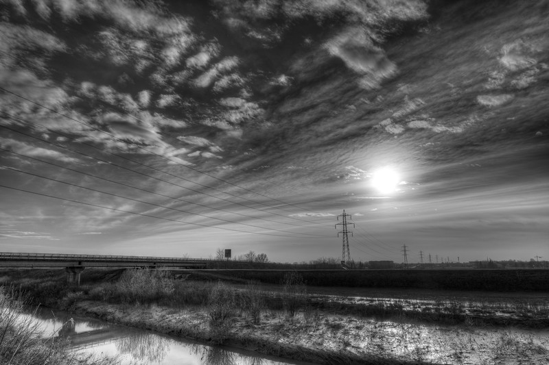 Crostolo Sunset - Guastalla, Reggio Emilia, Italy - March 29, 2015