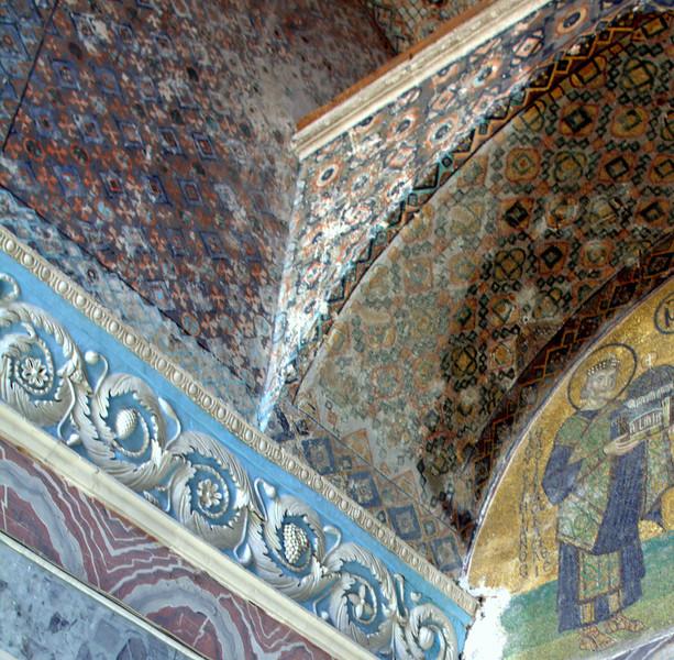 1500 year old tiles in the Vestibule room.
