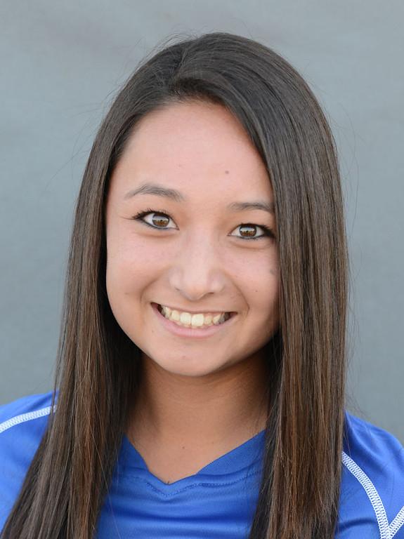 . Raya Young (8) of Los Alamitos girls soccer