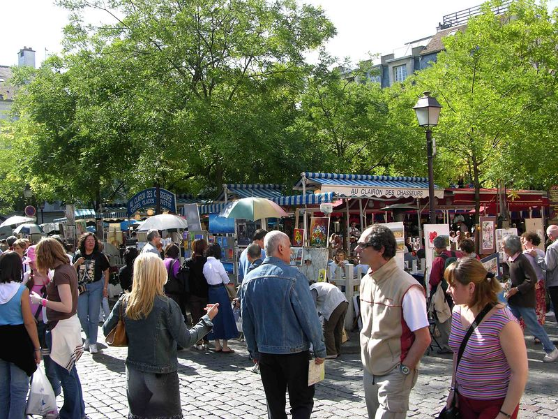 Flea market in Montmartre