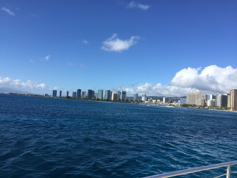 11/12/2018 - view from our catamaran of the shores of Waikiki