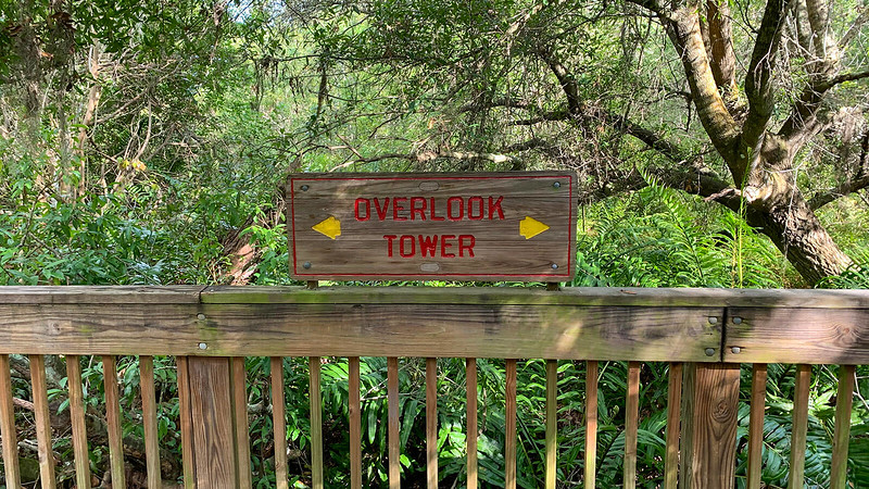 Overlook Tower sign