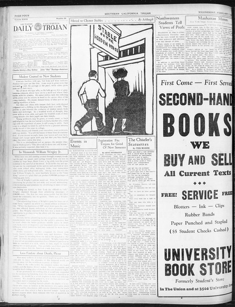 Daily Trojan, Vol. 23, No. 80, February 03, 1932