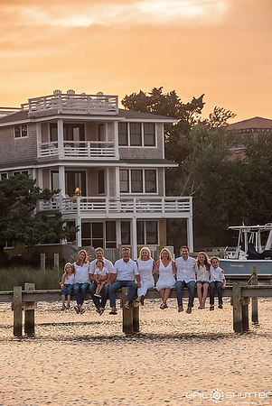 OBX Family Portraits, Ocracoke Island, Ocracoke, North Carolina, Silver Lake, Sunset, Epic Shutter Photography, Outer Banks Photographers, Hatteras Island Photographers, OBX Photographers, Cape Hatteras Photographers, Family Portraits, Family Photos, Fami