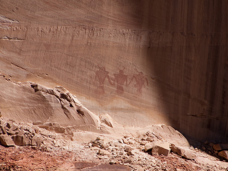 Pictograph on the other side of the canyon.