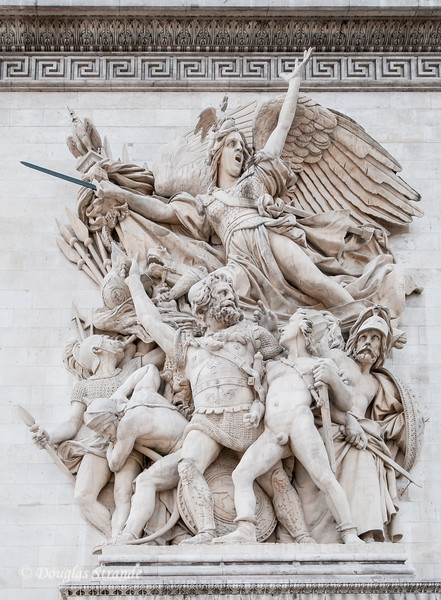 Arc de Triomphe commemorates Napoleon's 1805 victory at Austerlitz
