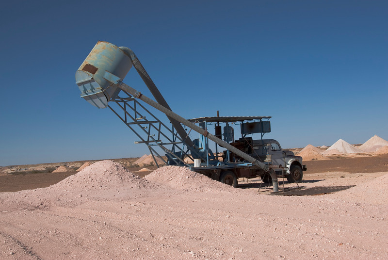 Blower Truck and Mine Hole - Coober Pedy, South Australia