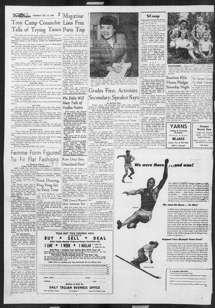 Daily Trojan, Vol. 46, No. 20, October 14, 1954