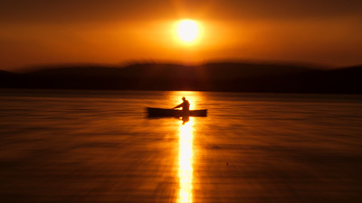 Algonquin;Abstracts;Sunrise-Sunset;Canoe;Flatwater